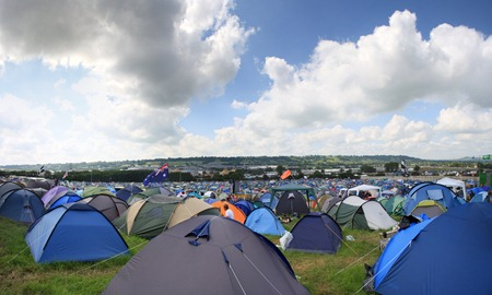 Glastonbury from tent